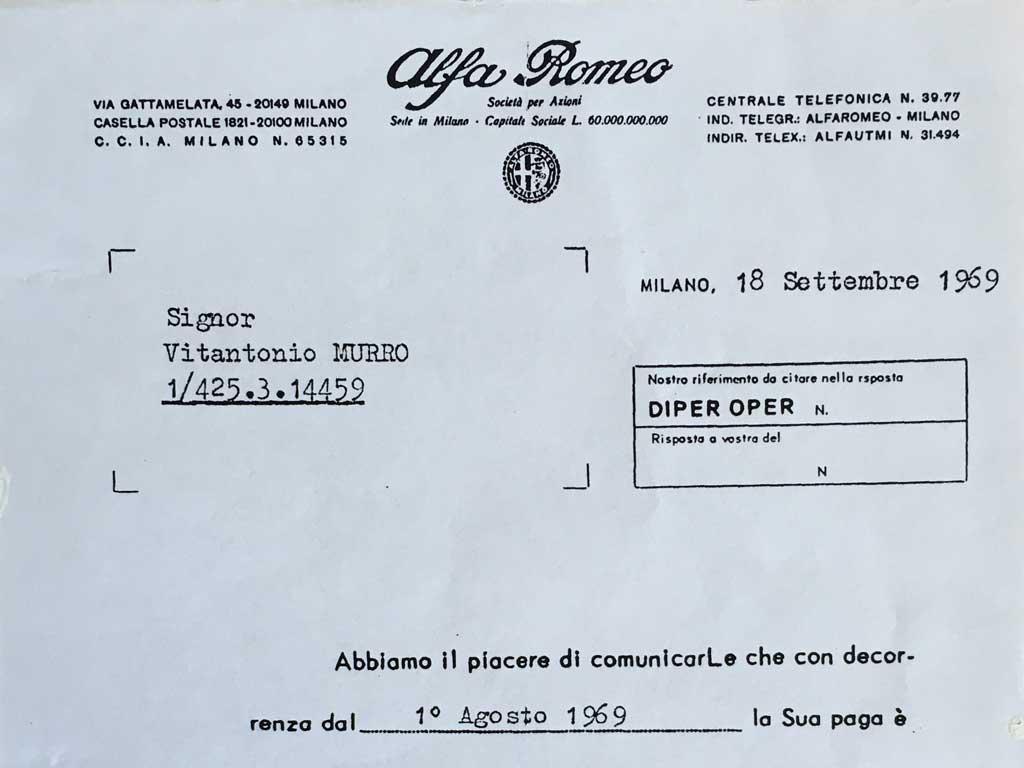 La Ventosa nasce dall'esperienza di Vito Murro in Alfa Romeo