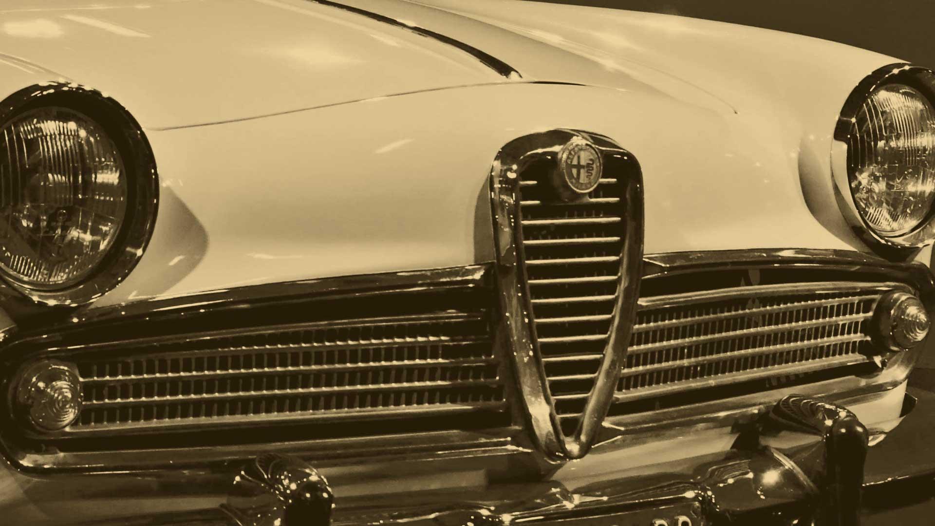 Un'Alfa Romeo Giulietta di fine anni 60